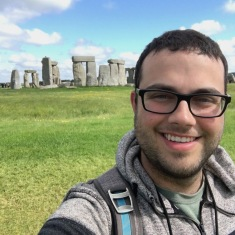 WG Parker taking a break from fieldwork to visit Stonehenge (Summer 2016)