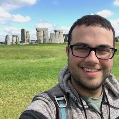 WG Parker taking a break from fieldwork to visit Stonehenge (Summer 2016)